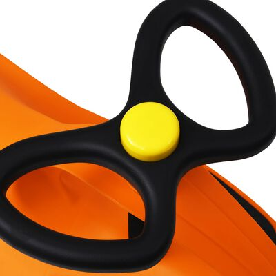 vidaXL Въртяща се кола с клаксон тип играчка за яздене, оранжева