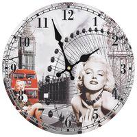 vidaXL Винтидж стенен часовник Мерилин Монро, 30 см
