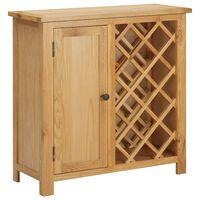 vidaXL Шкаф за вино за 11 бутилки, 80x32x80 см, дъбов масив