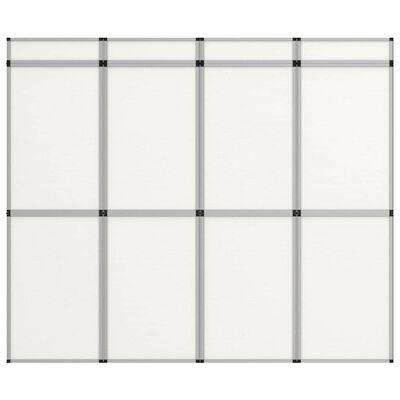 vidaXL Сгъваема експо стена, 12 панела, 242x200 см, бяла