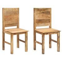 vidaXL Трапезни столове, 2 бр, мангово дърво масив