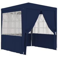 vidaXL Професионална парти шатра със стени 2x2 м синя 90 г/м²