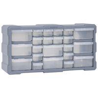 vidaXL Шкаф органайзер с 22 чекмеджета, 49x16x25,5 см