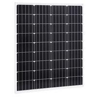 vidaXL Соларен панел, 80 W, монокристален алуминий и защитно стъкло