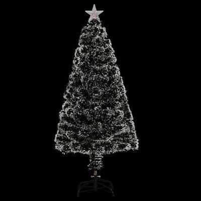 vidaXL Изкуствено коледно дърво със стойка/LED, 120 см, 135 клончета