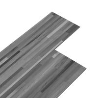 vidaXL PVC подови дъски 4,46 м² 3 мм самозалепващи сиви ивици