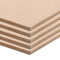 vidaXL 10 бр МДФ плоскости, квадратни, 60x60 см, 2,5 мм
