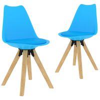 vidaXL Трапезни столове, 2 бр, сини