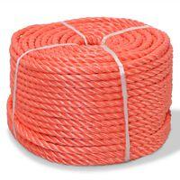 vidaXL Усукано въже, полипропилен, 16 мм, 250 м, оранжево