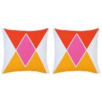 vidaXL Възглавници, 2 бр, цветен принт, 40x40 см, памук
