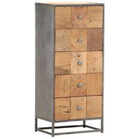 vidaXL Шкаф с чекмеджета, 45x30x100 см, регенерирано дърво масив