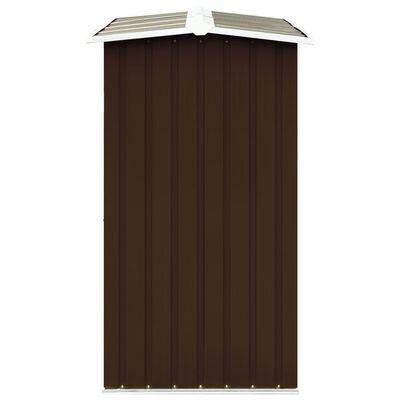 vidaXL Навес за дърва, поцинкована стомана, 172x91x154 см, кафяв