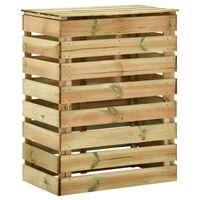 vidaXL Градински ламелен компостер, 80x50x100 см, импрегниран бор