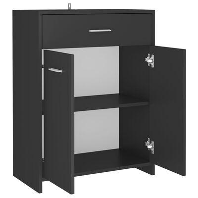 vidaXL Шкаф за баня, сив, 60x33x80 см, ПДЧ