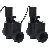 vidaXL Електромагнитни клапани за напояване, 2 бр, AC 24 V
