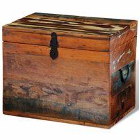 vidaXL Кутия за съхранение от регенерирано дърво
