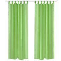 Зелени прозрачни завеси 140 х 245 см – 2 броя