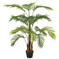 vidaXL Изкуствено растение палма със саксия, зелено, 120 см