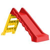vidaXL Сгъваема пързалка за деца, за закрито/открито, червено и жълто