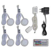 Комплект LED светлини, с включени дистанционно, адаптер и др.