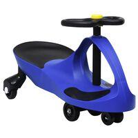 vidaXL Въртяща се кола с клаксон тип играчка за яздене, синя