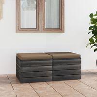 vidaXL Градински 4-местен палетен диван възглавници борово дърво масив