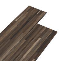 vidaXL PVC подови дъски 5,02 м² 2 мм самозалепващи кафяви ивици