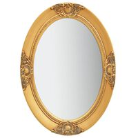 vidaXL Стенно огледало, бароков стил, 50x70 см, златисто