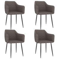 vidaXL Трапезни столове, 4 бр, таупе, текстил