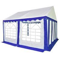 vidaXL Градинска шатра, PVC, 3x4 м, синьо и бяло