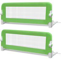 vidaXL Ограничители за бебешко легло, 2 бр, зелени, 102x42 см