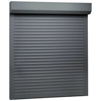 vidaXL Външна ролетна щора, алуминий, 80x100 см, антрацит