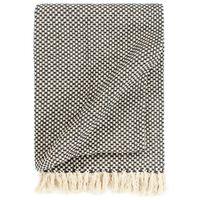vidaXL Декоративно одеяло, памук, 220x250 см, антрацит