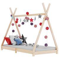 vidaXL Рамка за детско легло, бор масив, 70x140 см