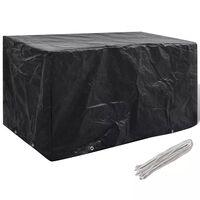 Покривало за градински мебели, 8 капси, 180 x 70 x 90 см