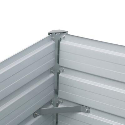 vidaXL Градинска висока леха поцинкована стомана 400x80x45 см антрацит