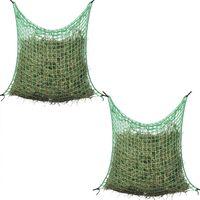 vidaXL Мрежи за сено, 2 бр, квадратни, 0,9x2 м, PP
