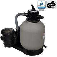 vidaXL Пясъчна филтърна помпа, 600 W, 17000 л/ч