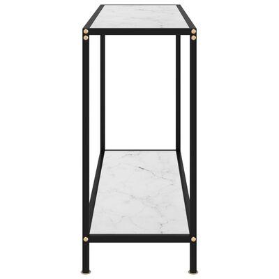 vidaXL Конзолна маса, бяла, 100x35x75 cм, закалено стъкло