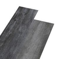 vidaXL PVC подови дъски 4,46 м² 3 мм блестящо сиво