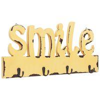 vidaXL Стенна закачалка за палта SMILE, 50x23 см
