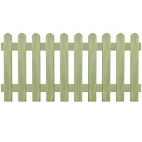 vidaXL Решетъчна ограда, импрегнирано борово дърво, 170x80 см, 6/9 см