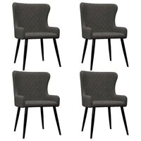 vidaXL Трапезни столове, 4 бр, сиви, кадифе