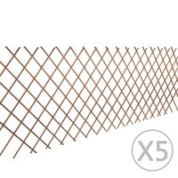 vidaXL Върбови огради хармоника, 5 бр, 180x90 см