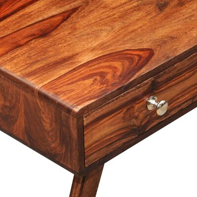 ТВ шкаф от масивно шишамово дърво, 2 чекмеджета, винтидж, 40 см