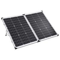 vidaXL Сгъваем соларен панел във вид на куфар, 120 W, 12 V