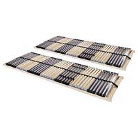 vidaXL Подматрачни рамки с 42 ламела, 2 бр, 7 зони, 90x200 см