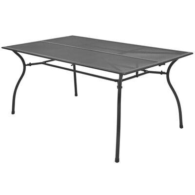 vidaXL Градинска маса, 150x90x72 см, стомана, мрежа