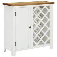 vidaXL Шкаф за вино, 80x32x80 см, дъбов масив