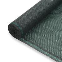 vidaXL Тенис екран, HDPE, 1,4x100 м, зелен